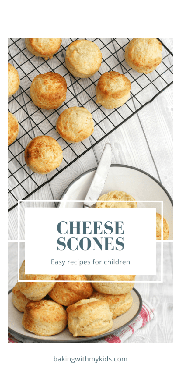 Mary Berry cheese scones graphic with a text overlay