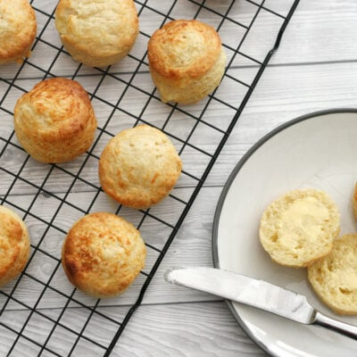mary berry cheese scones on a wire rack