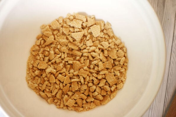 biscuits crushed in a bowl