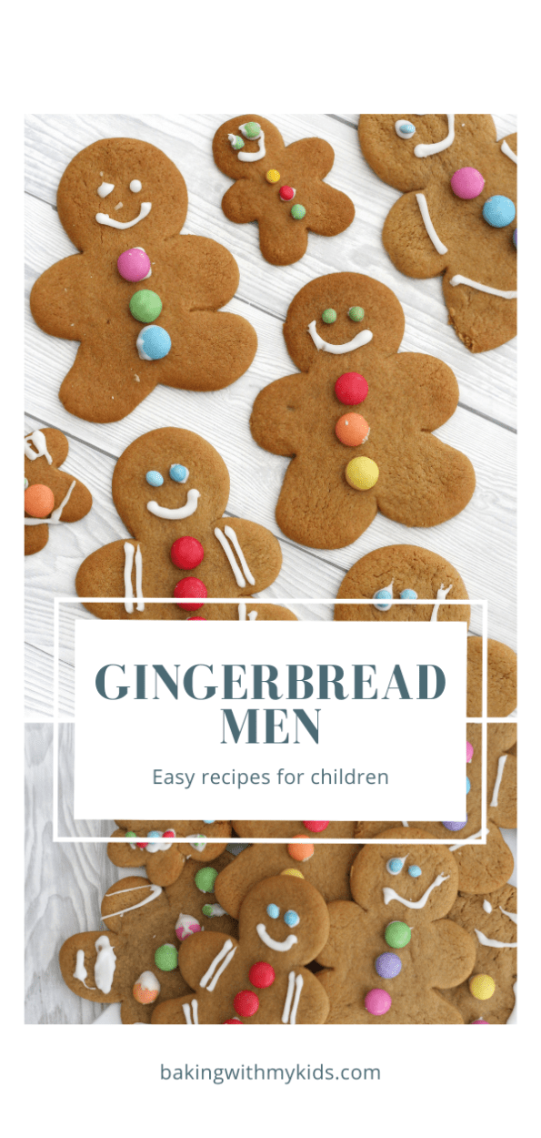gingerbread men recipe graphic with text overlay
