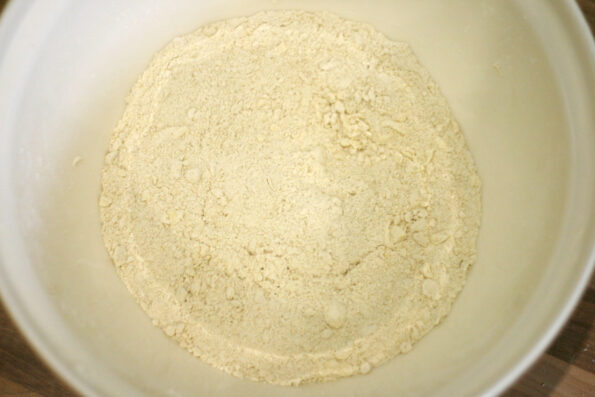 butter and flour rubbed in, in a bowl.