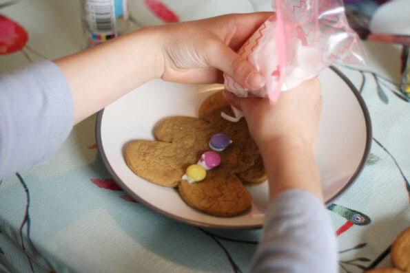 decorating gingerbread men.