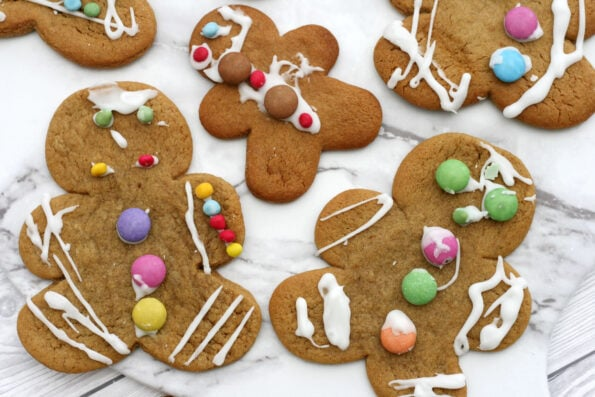 gingerbread men decorated by kids