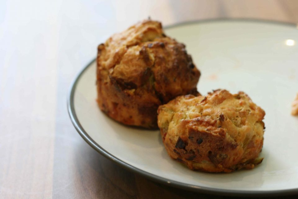 bacon leek and cheese muffins