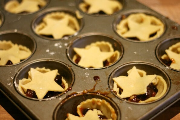 mince pies before baking.