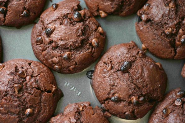 double chocolate chip muffins UK