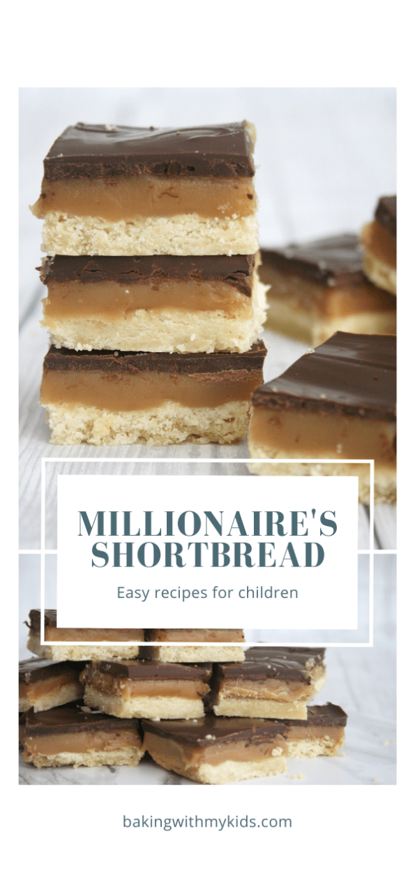 millionaires shortbread graphic with text overlay