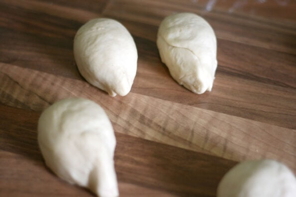 shaping hedgehog rolls