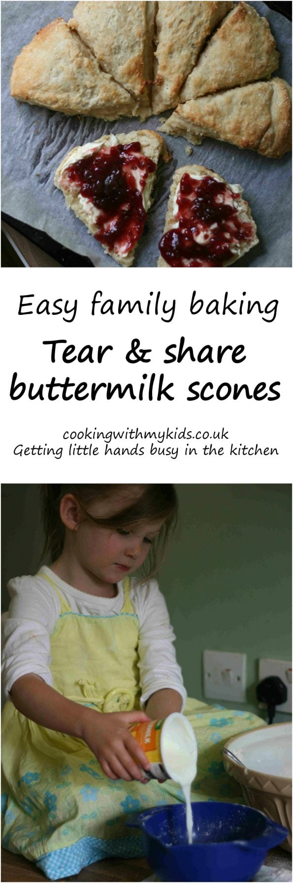 tear and share buttermilk scones