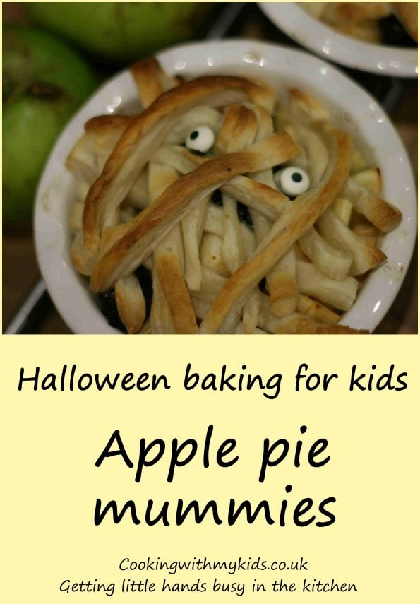 Halloween apple pie mummies