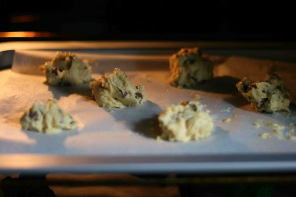 spider cookies in the oven