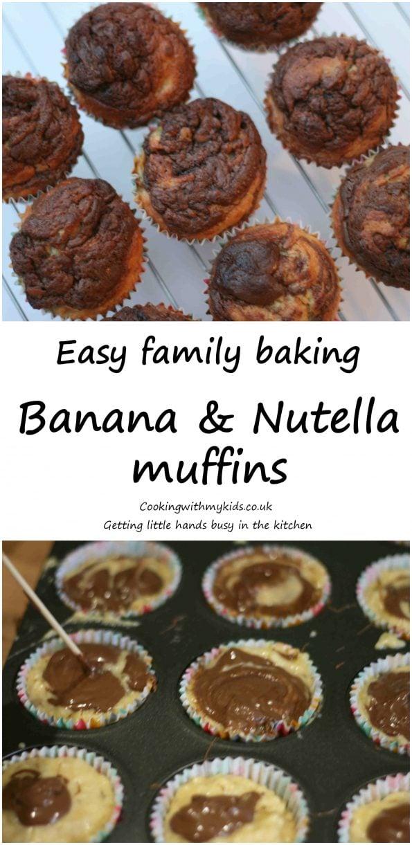 banana and nutella muffins