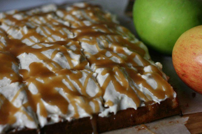 Apple Cinnamon Caramel Poke Cake