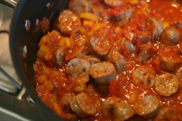 sausage and tomato pasta
