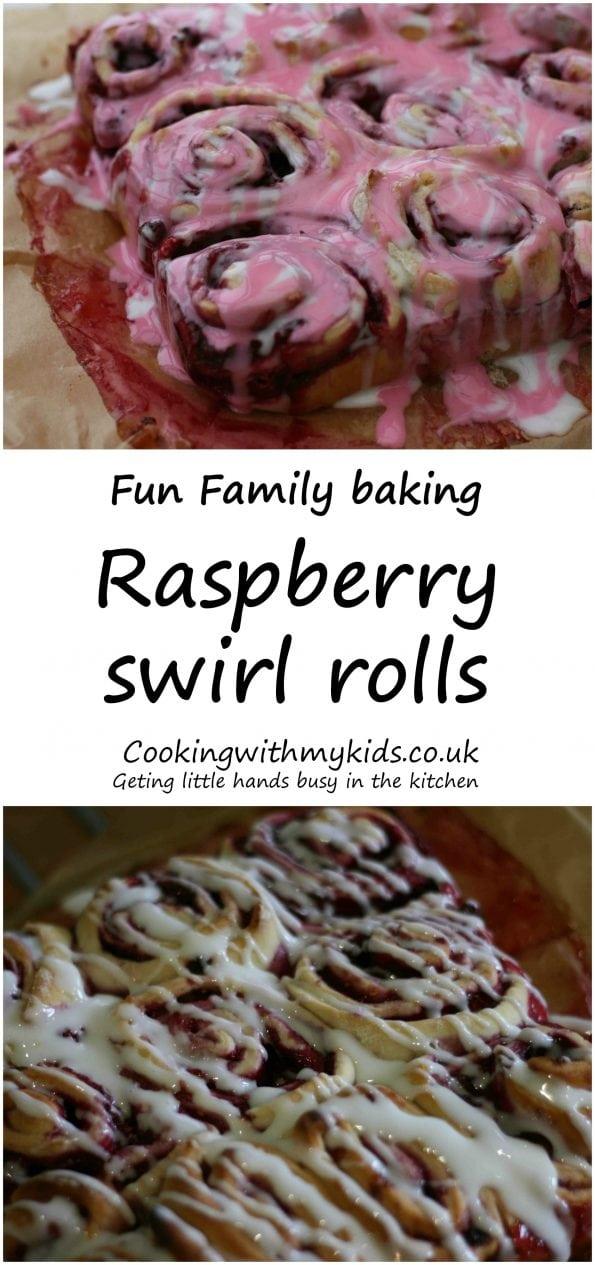 raspberry sweet rolls