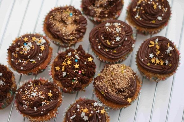 banana and chocolate cupcakes