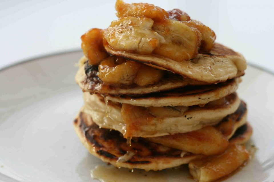 chocolate and banana pancakes