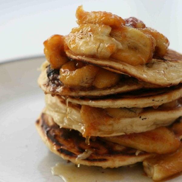 chocolate and banana pancakes