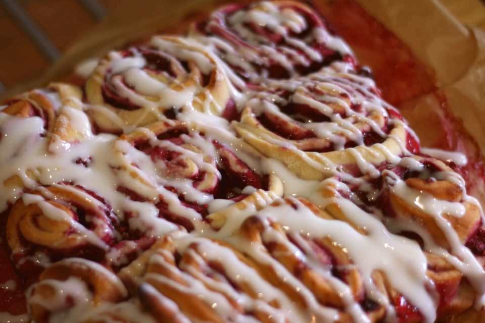 Raspberry swirl rolls