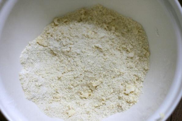 shortbread ingredients in a bowl