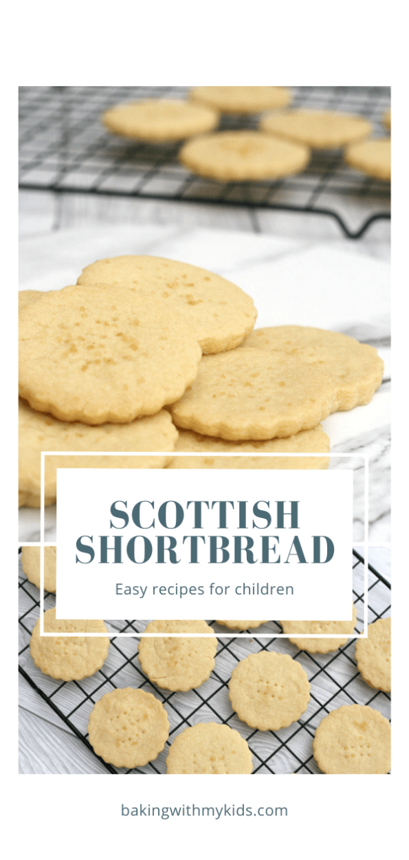 Scottish shortbread with a text overlay