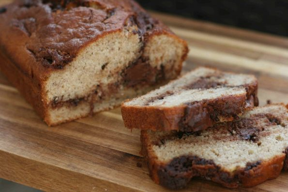 banana and nutella loaf