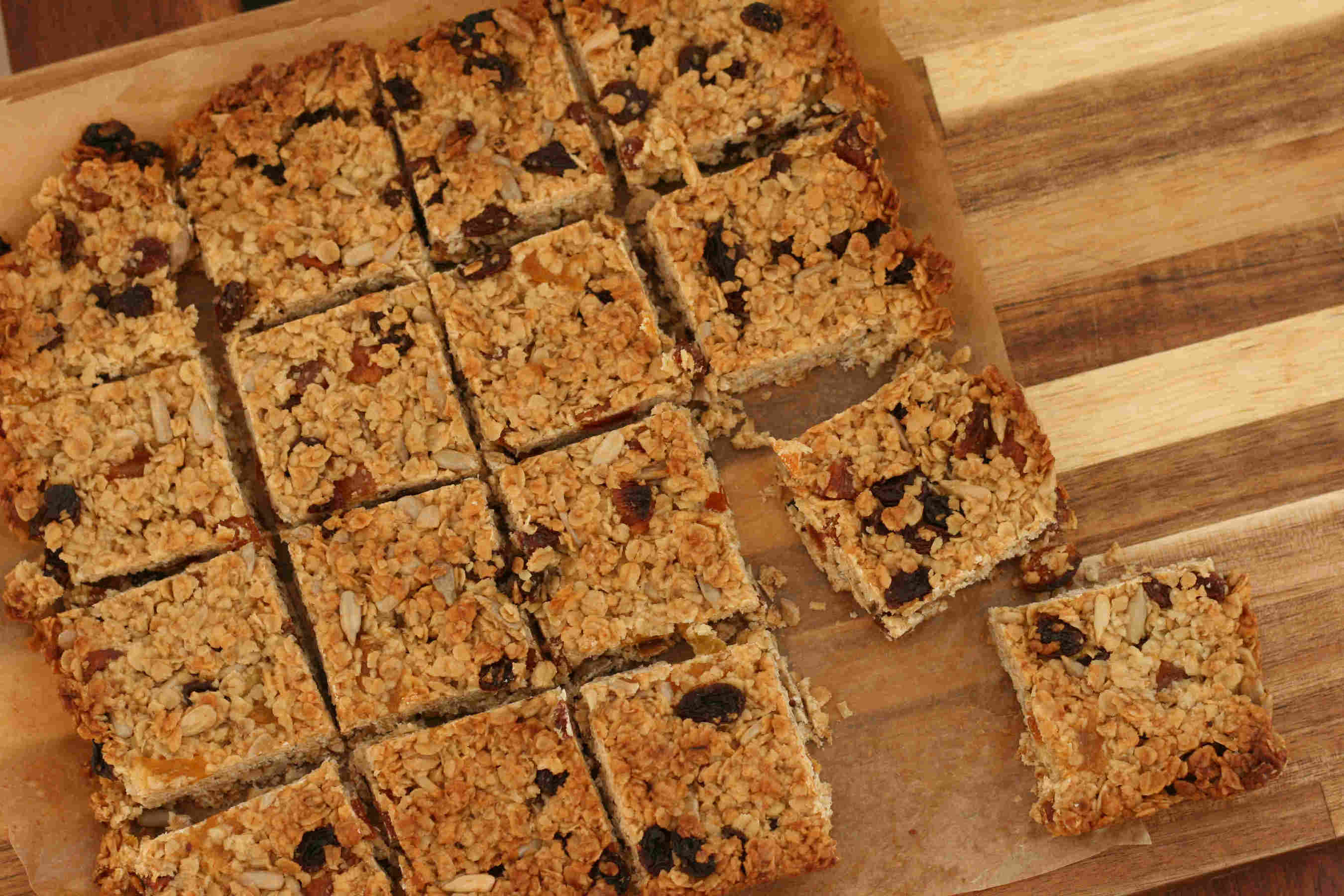 fruity honey flapjacks