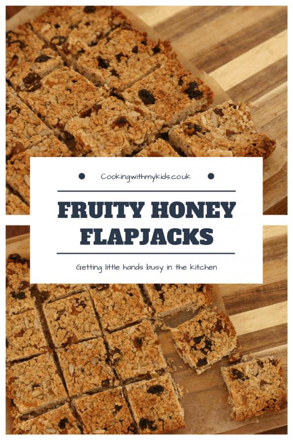 fruity honey flapjacks