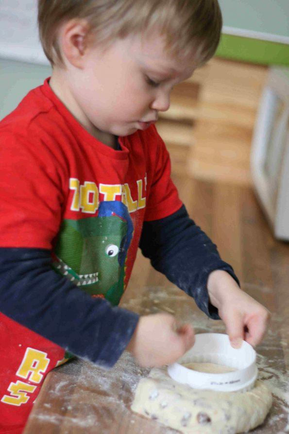 making Fruit scones