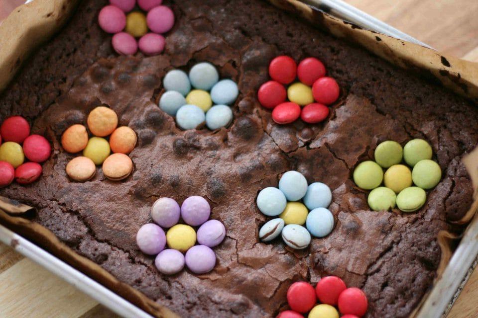 spring chocolate brownies