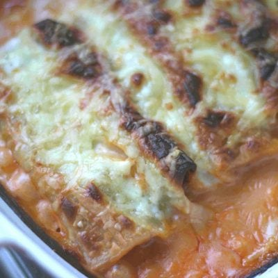 beef cannelloni with bechamel sauce