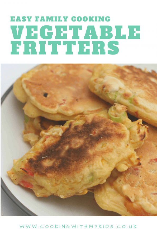 Vegetable fritters on a plate