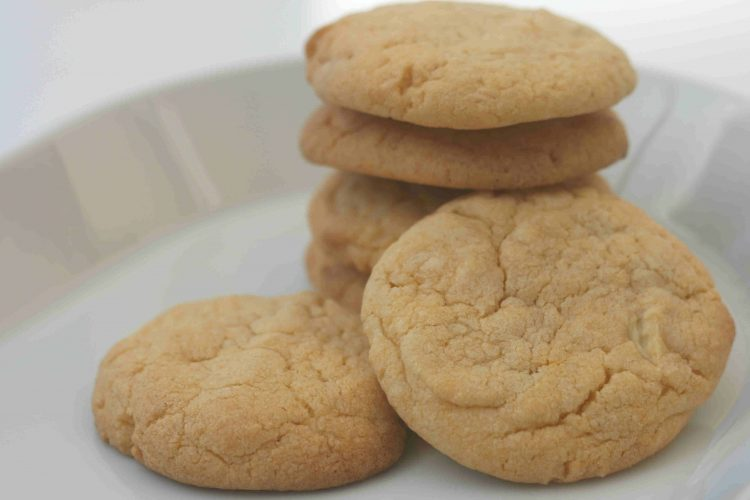custard biscuits on a plate