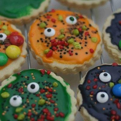 halloween monster biscuits