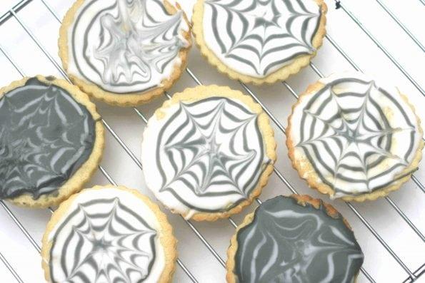 halloween spider web biscuits