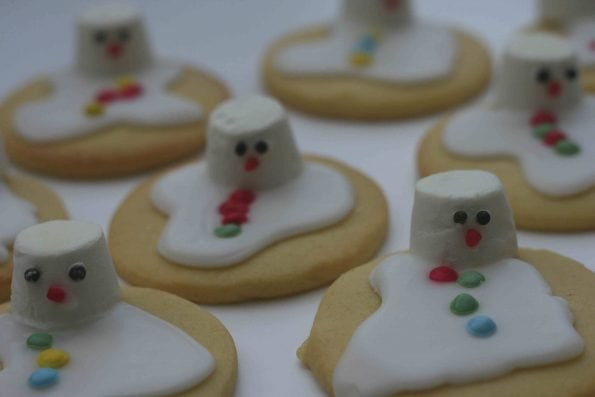 melted snowman biscuits