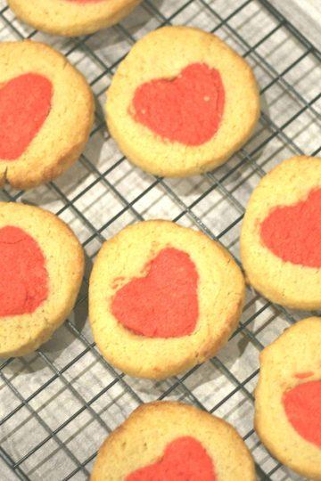 Valentine's hidden heart biscuits