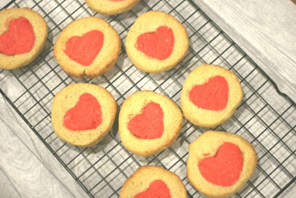 Valentine's hidden heart biscuits