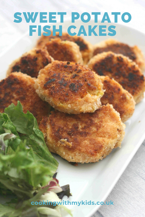 sweet potato fish cakes on a plate