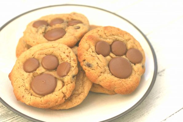 bear paw cookies on a plate