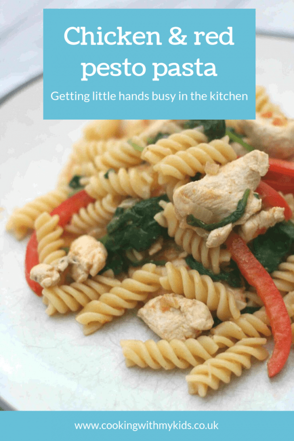 chicken and red pesto pasta