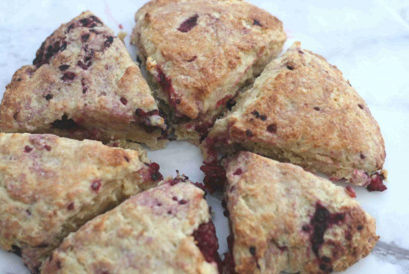 blackberry scones
