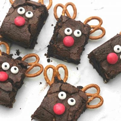 Christmas reindeer brownies