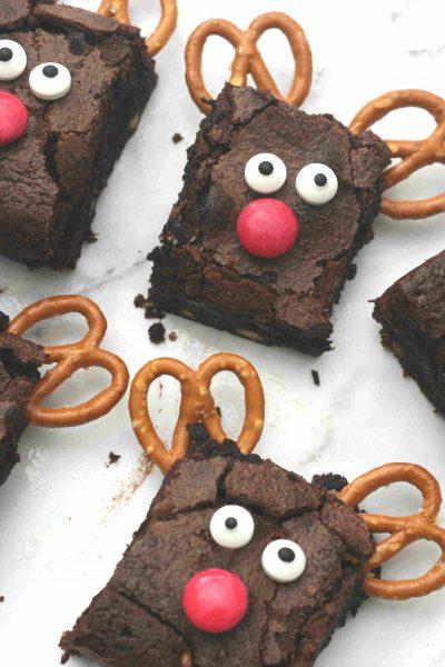 Christmas reindeer brownies