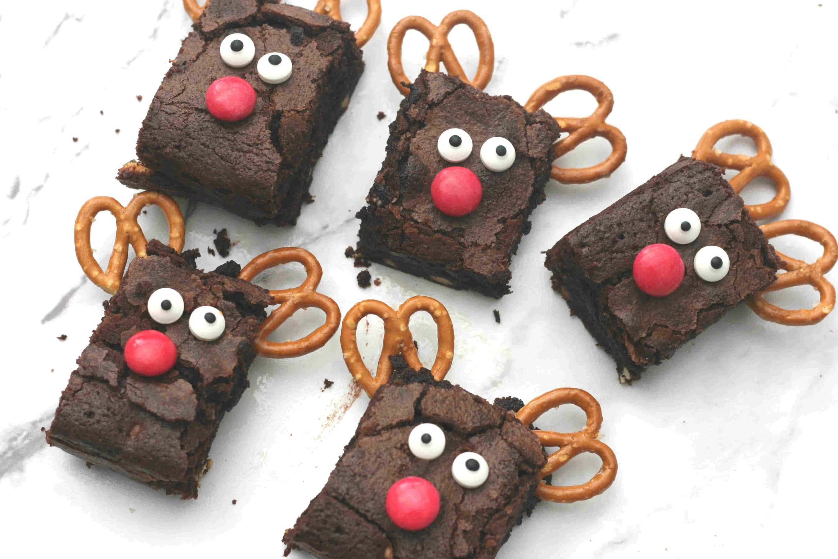 Christmas Reindeer Brownies Cooking With My Kids