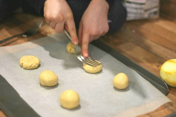 making easy biscuits