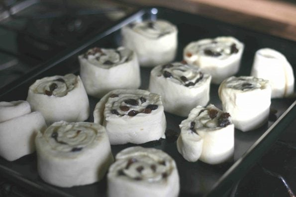 Belgian buns waiting to be proved