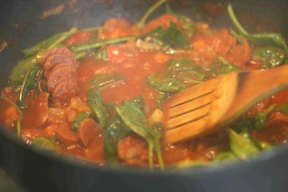 cooking chorizo rice