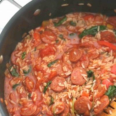 easy chorizo and rice