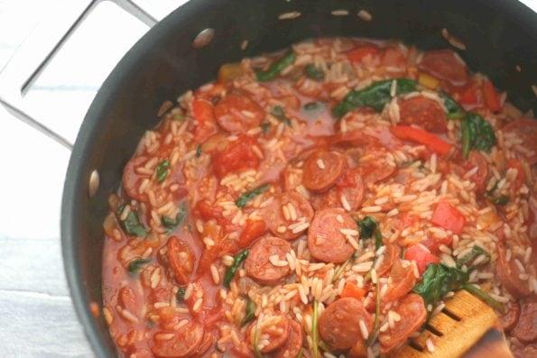 chorizo and rice